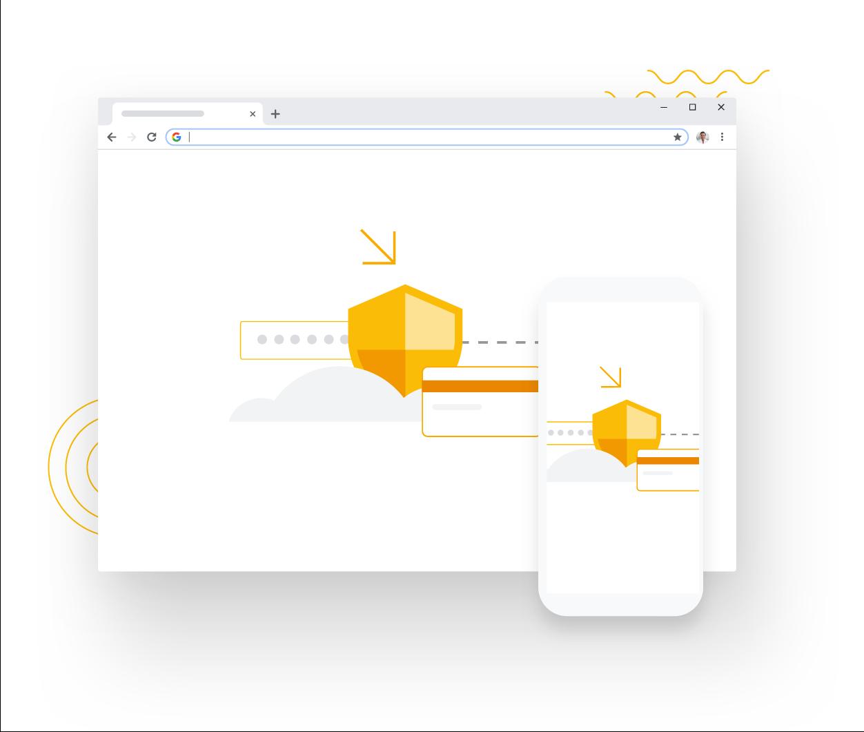 schermata principale di Google Chrome