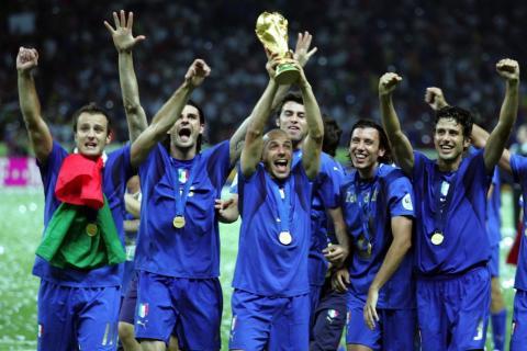 Foto dell'Italia vincitrice ai mondiali Berlino2006