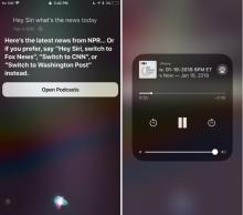 logo di Siri podcast news