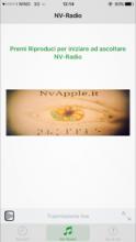 Schermata NvRadio relativa all'app