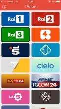 Immagine raffigurante la schermata principale di TVSion